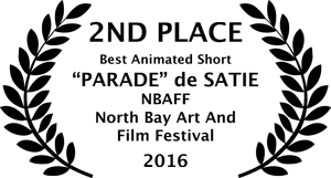 Best Animated Short 2nd Place; 1st North Bay Art & Film Festival (NBAFF),